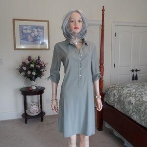 Boston Proper Loden Green Utility Dress SIze 8